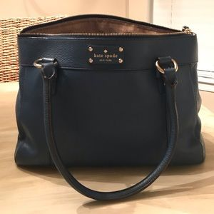 Navy Blue Pebble Leather Kate Spade Bag